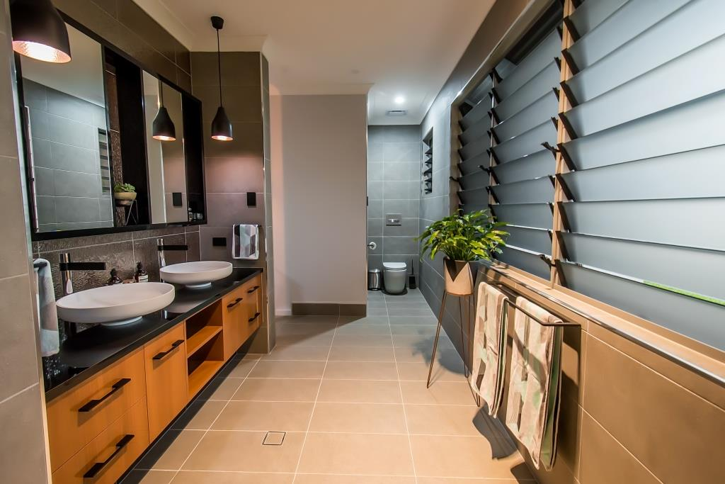 Breezway Louvres Behind Towel Racks Help Speed Up The